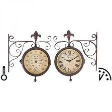 Ceas de perete dublu, indicator temperatura si umiditate