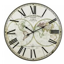Ceas de perete, model harta, MDF, 58 cm
