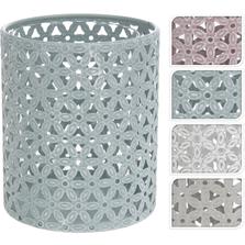 Suport lumanare metalic, forma cilindrica