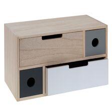 Caseta lemn, pentru bijuterii, 4 sertare