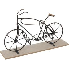 Suport sticle vin, forma de bicicleta