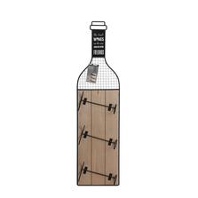 Suport perete sticle vin, model sticla