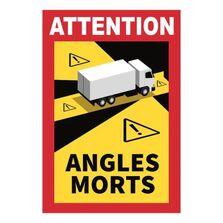 Sticker Autocolant Unghi Mort, Eticheta Autocolanta ANGLES MORTS (17 x 25 cm)