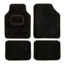 Set de covorase universale din mocheta culoare neagra, 4CARS