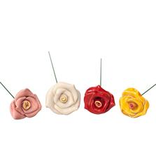 Floare ceramica, Trandafir Rosu
