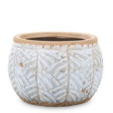 Ghiveci ceramica, albastru antichizat, 11,5x15,5 cm