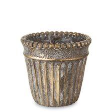 Ghiveci de piatra, bronz, 15x14.5 cm