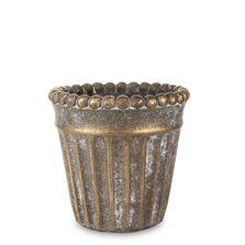 Ghiveci de piatra, bronz, 13x12.5 cm
