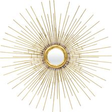 Oglinda de perete, metalica, soare, aurie, 79.5 cm