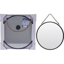 Oglinda perete,  cadru metalic, cu agatatoare - sfoara, 41 cm
