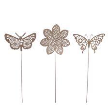 Ornamament pick fluture, auriu antichizat, 10x26 cm