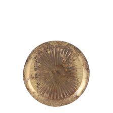 Platou metalic auriu, rotund, 28 cm