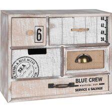 Caseta de lemn cu 5 sertare, 28x10xH21.5 cm