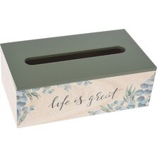 Cutie pentru servetele, model floral, MDF