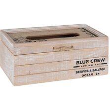 Cutie pentru servetele, lemn/sfoara