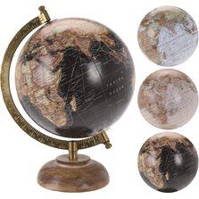 Decoratiune glob pamantesc 15 cm cu baza de lemn