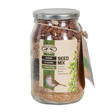 Borcan cu seminte pentru pasari, 614 gr