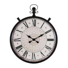 Ceas de perete cadru metalic, 75x50x6 cm