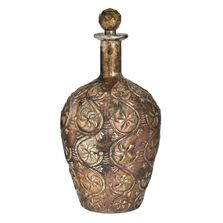 Decantor sticla, auriu antichizat, 18x32 cm