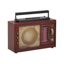 Decoratiune metalica, radio, pusculita, 23x9x19 cm