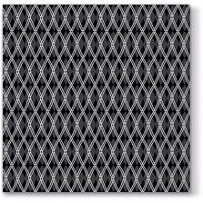 Servetele de masa, 33x33 cm, negru romburi