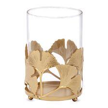 Sfesnic model frunze ginko, auriu, 16x10 cm