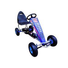 Kart cu pedale Gokart, 4-10 ani, roti gonflabile, G5 R-Sport - Albastru