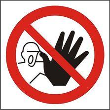 Indicator Autocolant Accesul interzis persoanelor neautorizate, dimensiune 180 x 180mm