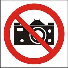 Indicator Autocolant Fotografiatul interzis (versiune 2), dimensiune 180 x 180mm
