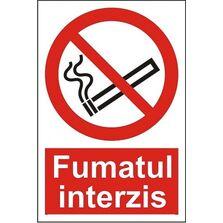 Indicator Autocolant Fumatul interzis (versiune 2), dimensiune 148 x 210mm
