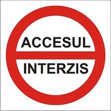 Indicator Autocolant Accesul interzis (versiune 3), dimensiune 180 x 180mm