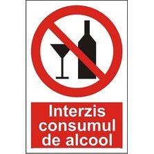Indicator Autocolant Interzis consumul de alcool, dimensiune 148 x 210mm