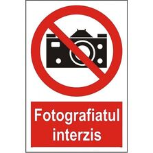 Indicator Autocolant Fotografiatul interzis, dimensiune 148 x 210mm