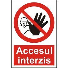 Indicator Autocolant Accesul interzis (versiune 2), dimensiune 148 x 210mm
