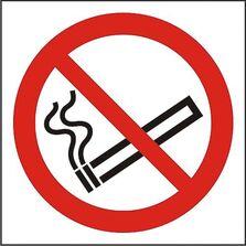 Indicator Autocolant Fumatul interzis (versiune 1), dimensiune 180 x 180mm