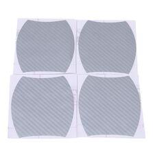 Set 4 bucati protectie zgarieturi manere usa din autocolant carbon 3D Argintiu
