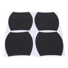 Set 4 bucati protectie zgarieturi manere usa din autocolant carbon 3D Negru