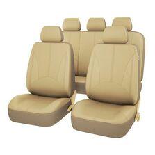 Set huse scaun auto UNIVERSALE din piele ecologica Bej, AG338F