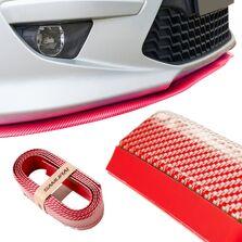 Protectie spoiler, prelungire bara fata/spate din cauciuc, culoare CARBON Rosu
