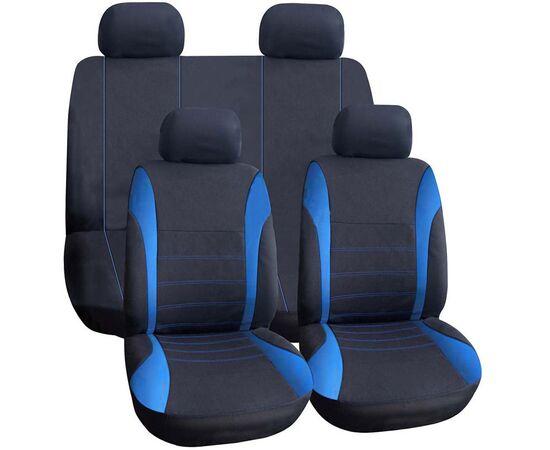Set huse scaun auto ieftine, Universale 9 piese, model H-LINE - ALBASTRU