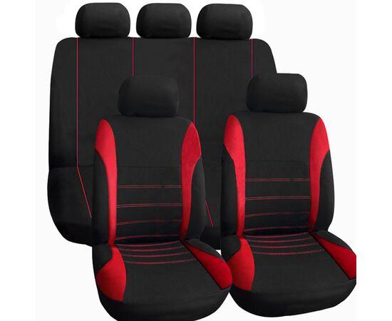 Set huse scaun auto ieftine, Universale 9 piese, model H-LINE - ROSU